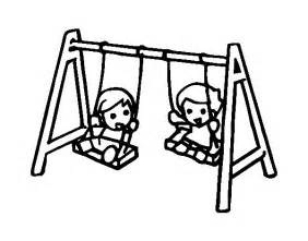 free coloring pages of swings and slides