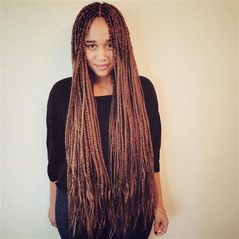 expressions braids hairstyles honey brown boxbraids i installed on myself i used 6