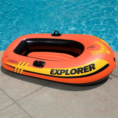Backyard Inflatable Pool Intex Explorer Inflatable Boat 1 Person Inflatable Boats