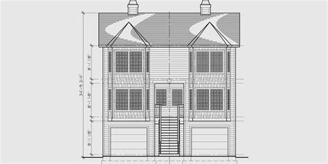 Narrow Lot Duplex House Plans Narrow And Zero Lot Line Narrow Zero Lot Line House Plans