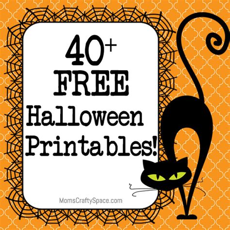 Printable Halloween Images For Free | 40 free halloween printables happiness is homemade