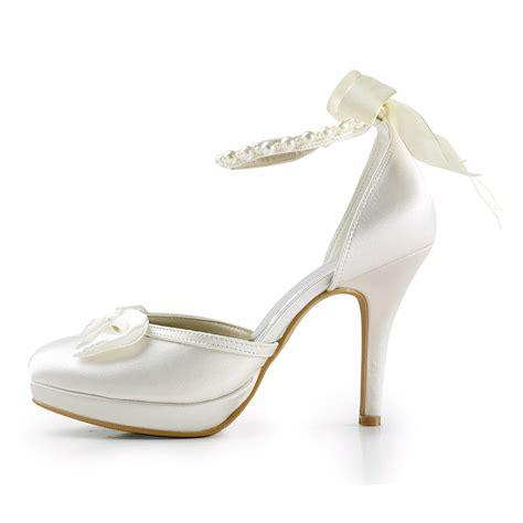 s satin stiletto heel closed toe platform pumps