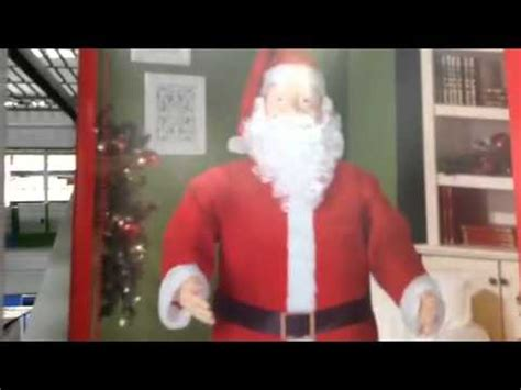 walmart singing and dancing santa claus gemmy animated singing 5ft size santa claus walmart 5 songs