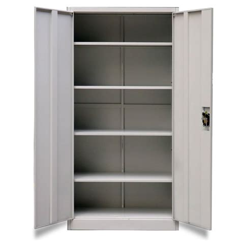 armadio metallico ufficio armadio metallico per ufficio con 2 ante 180 cm grigio