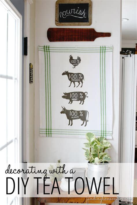 decorating ideas vintage decorating finding home farms kitchen decorating ideas diy butcher sign tea towel