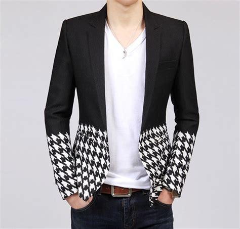 color blazers houndstouch black white color block blazer