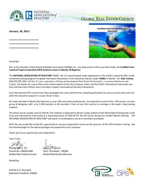 Sponsorship Letter Greetings Cips Sponsorship Letter Template