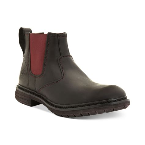 timberland chelsea boots timberland earthkeepers tremont chelsea boots in black for