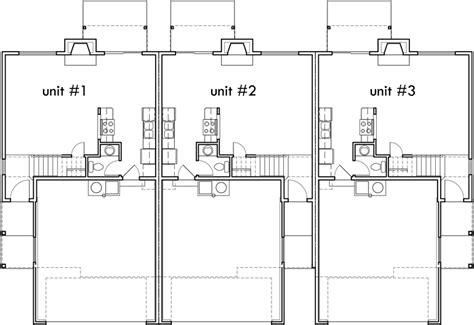 triplex house plans townhouse with 2 car garage triplex house plan triplex plan with garage 25 ft wide