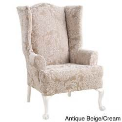 Wing Chair Recliner Slipcover by Sure Fit Stretch Forest Wing Chair Slipcover Overstock