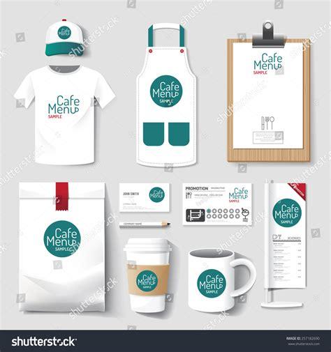 uniform design mockup vector restaurant cafe set flyer menu stock vector