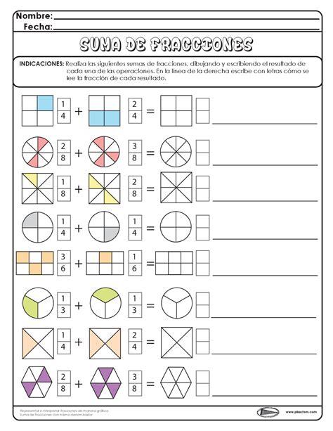 ejercicios de fracciones para cuarto de primaria the 25 best ideas about fracciones para primaria on