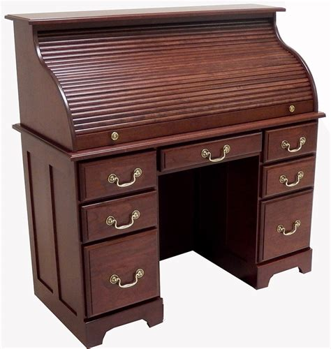 Roll Top Office Desk Amish Mission Arts Crafts Roll Top Roll Top Office Desk
