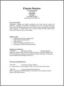 Examples Of A Resume » Home Design 2017