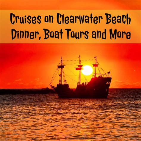 clearwater boat tours cruises on clearwater beach dinner boat tours