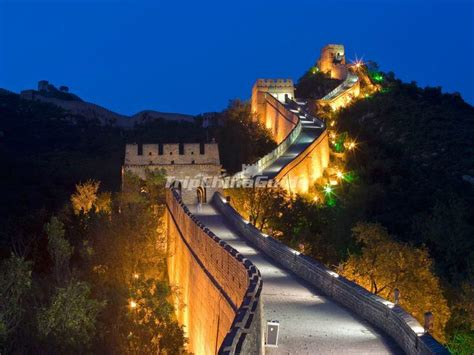 badaling great wall night view badaling great wall
