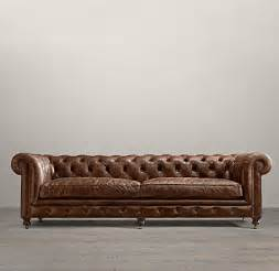Restoration Hardware Leather Sofas 106 Quot Kensington Leather Sofa