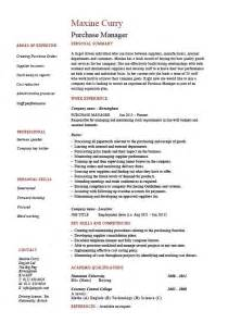 Sle Resume For Purchase Manager by Purchase Manager Resume Description Sles Exles Templates Management
