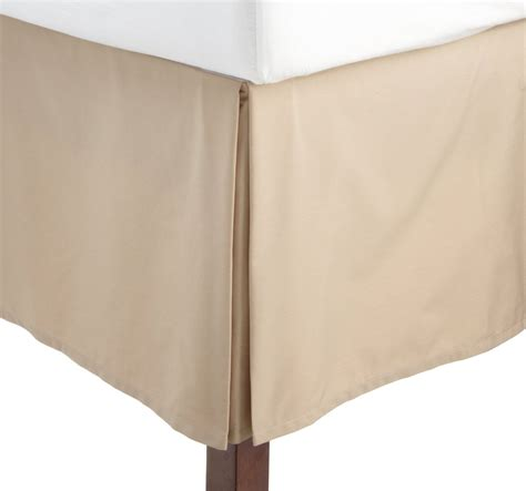 Beige Bed Skirt 1000tc solid beige bed skirt in king size 100