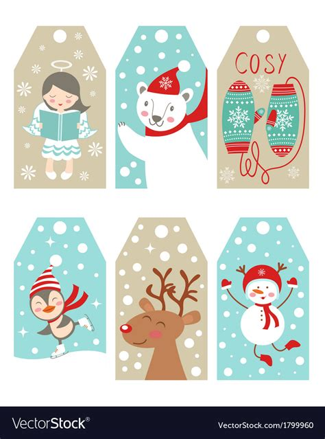christmas   year gift tags royalty  vector image