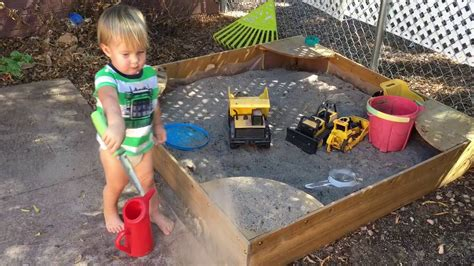 kidcraft backyard sandbox kidkraft backyard sandbox having a good time youtube