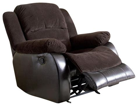 Corduroy Recliner coaster johanna corduroy recliner in chocolate