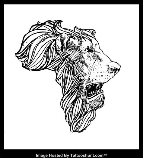 lion outline tattoo 36 best africa map outline images on
