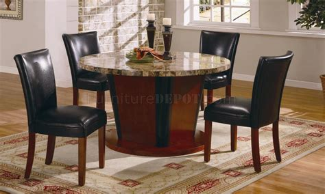Marble Dining Room by Genuine Marble Dining Room Furniture W Leather Seats