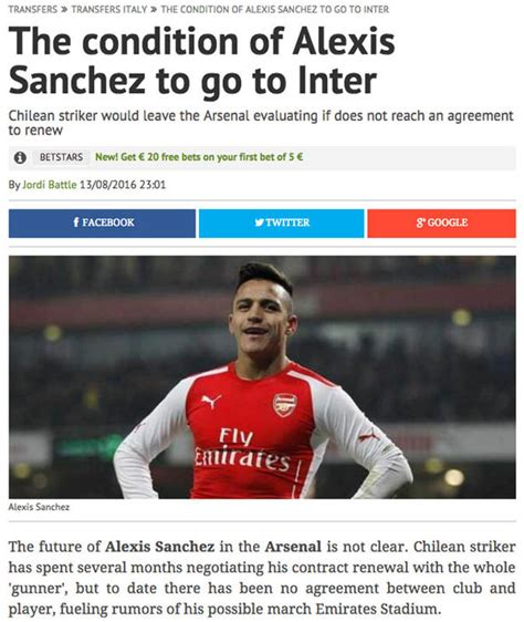 alexis sanchez inter big claims from spain say inter milan want alexis sanchez