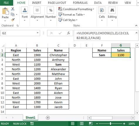 vlookup tutorial true false reverse vlookup in microsoft excel microsoft excel tips