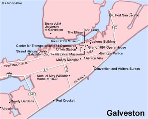 map of texas galveston galveston texas usa cruise port of call