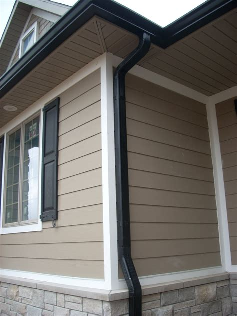 black gutters gutters miscellaneous exterior black and exterior colors
