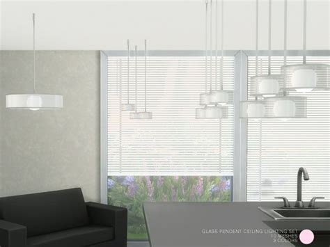 Set Ceiline Cc glass pendent ceiling lighting set by dot at tsr sims 4 updates s i m s 4 c c