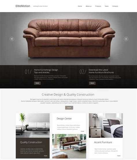 Interior Design Furniture Templates by 50 Interior Design Furniture Website Templates 2017