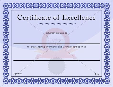 17 best images about excellence certificate on pinterest