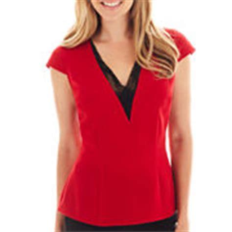 Worthington Caps Black Blouse worthington 174 cap sleeve v neck blouse