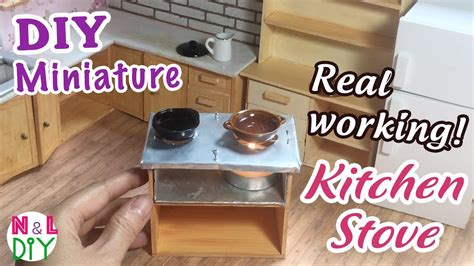 Real Working Miniature Kitchen by Diy Miniature Real Working Kitchen Stove For Dollhouse