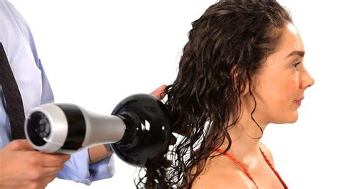 Curly Hair Dryer how to curly hair salon hair tutorial
