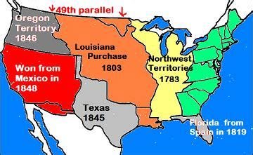 map of the united states during westward expansion standard us1 8a