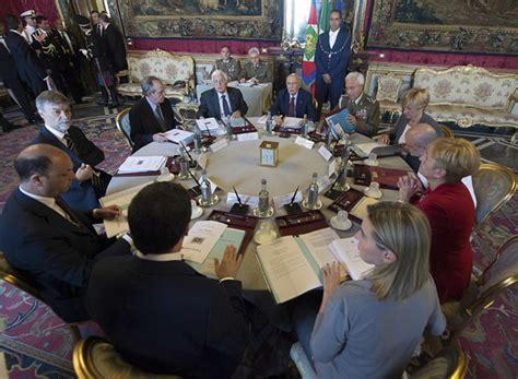 consiglio dei ministri riunione di oggi riunione consiglio supremo di difesa bene linee guida