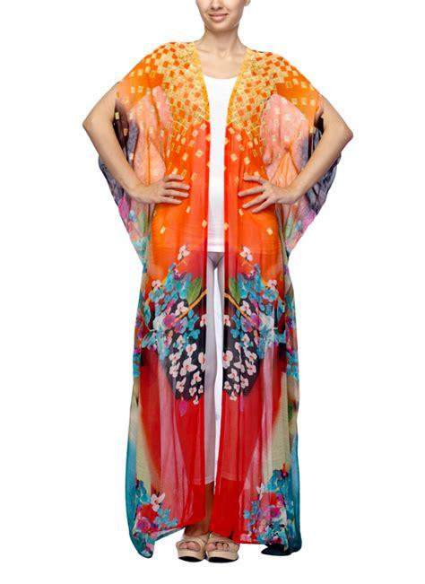 Kaftan Flowy satya suman flowy printed kaftan shirt shop tops at strandofsilk