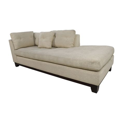 sofa chaise 79 off freestyle freestyle tufted natural fabric sofa chaise sofas
