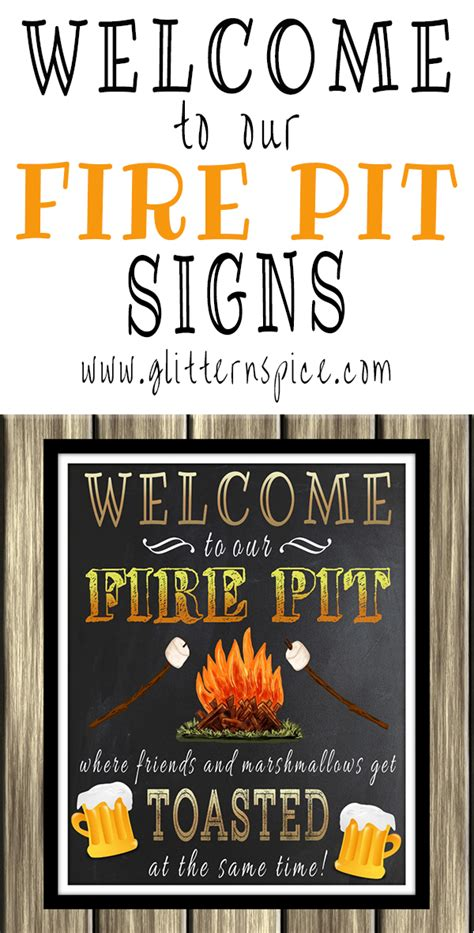 decorate outdoor spaces with a welcome to our pit