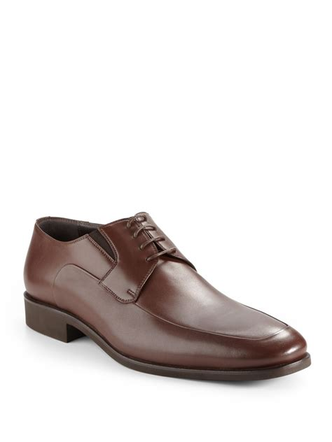 dress shoes lyst bruno magli rammola leather dress shoes in brown