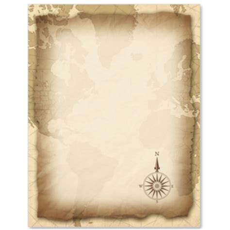 pirate paper template vintage map paperframes border papers by paperdirect