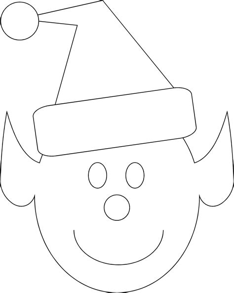 printable elf face template elf out line new calendar template site