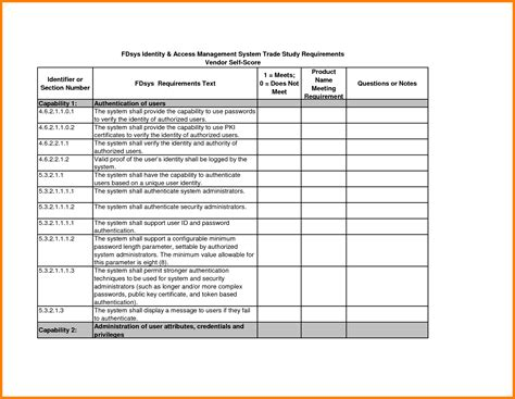 26 Images Of Administration Job Requirement Matrix Template Eucotech Com Description Matrix Template