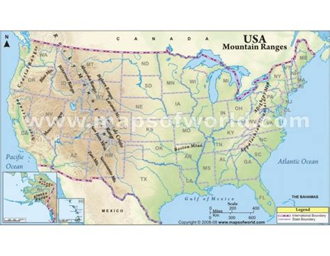 mountains in the usa map buy usa mountain ranges map in digital vector format