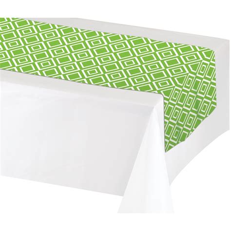 84 inch table runner green plastic table runner 14 inches wide x 84 inches