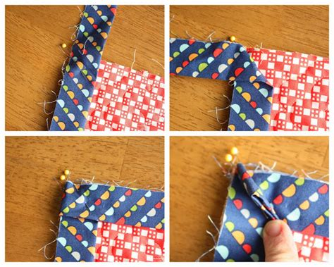 Mitre Corners On Quilt Binding patchwork and quilting studio how to finish and bind a quilt